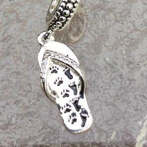 Dog charm paw footprints Memorial cremation